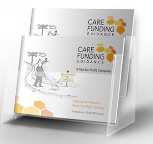 image of the care funding guidance brochure dispenser
